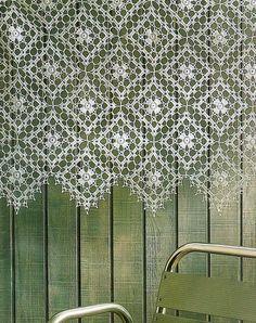 Crochet Patterns: Cortina Crochet - patrón de ganchillo