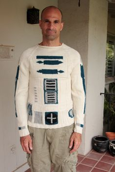 CUSTOM made to order  Star Wars R2D2 sweater by EricaKnit on Etsy