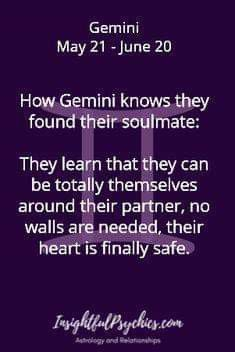 gemini man virgo woman soulmate
