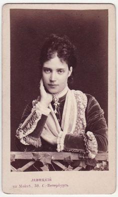 Russia. Princess Dagmar of Denmark, Empress consort of Tsar Alexander III of Russia