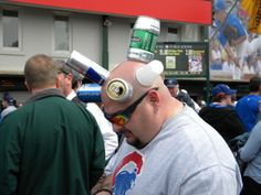 Don't you love Cubbies fans? Chicago Cubs Fans, My Kind Of Town, Cubbies, Guys, Cubicles, Boxes, Sons, Lockers, Boys
