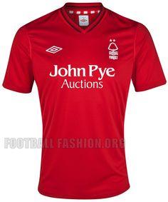 4ba524960 Nottingham Forest Umbro 2012 13 Home Kit
