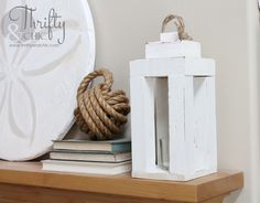 DIY wood lantern ... love how this looks