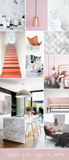 Don't forget the metallic with pastel: Interior inspiration - Passions for Fashion