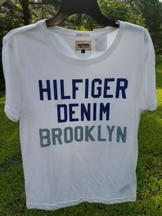 new arrival 8fcde ffd05 MEN S TOMMY HILFIGER DENIM FORD GRAPHIC T-SHIRT TEE NAVY BLUE WHITE L LARGE  NWT 631620556969   eBay