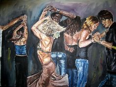 Buy 'Rumba' by Valentina Henao as a Art Board Print, Greeting Card, or Acrylic Block Salsa Dance, Dance Art, Figure Painting, Puerto Rico, Oil On Canvas, Dancing, Places, Artwork, People