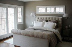 Calming master bedroom at beach cottage - Landsted Co