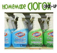 homemade clorox  clean-up {recipe}
