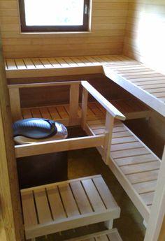 Vakio-Hermanni — Hermanni-talot Oy lauteet sauna Bunk Beds, Shelves, Storage, Furniture, Home Decor, Purse Storage, Shelving, Decoration Home, Loft Beds