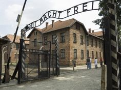 College... j-term trip!!! Entry Gate with Sign Arbeit Macht Frei, Auschwitz Concentration Camp, Near Krakow