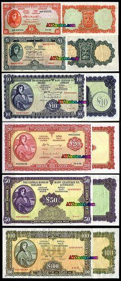 ireland currency | Ireland Republic banknotes - Ireland paper money catalog and Irish ...