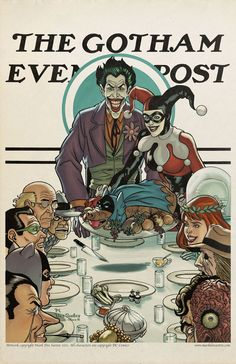 rockwell batman. Click the link to see more! They're all awesome :)