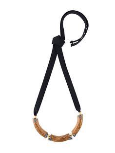 Marni ожерелье с деревянной вставкой
