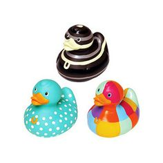 pink bud rubber ducks | Walmart.com: BUD - 3 Pack Luxury Rubber Duck Toy, Geometric: Baby & To ...