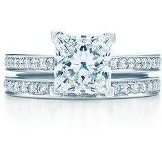 Tiffany Grace 2 carat platinum princess cut diamond ring - the perfect engagement ring