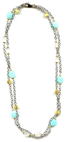 Peruvian Opal And Moonstone Necklace by Jewelry by Kristi