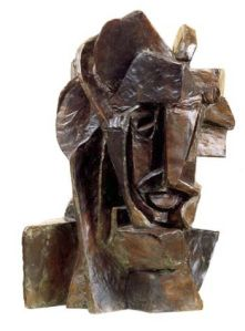 Emil Filla  Cubist Head  1913  Bronze 6 1/2 x 9 x 9 inches  National Gallery, Prague