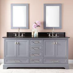 """72"""" Quen Double Vanity for Undermount Sinks - Gray- $1850 configured"""