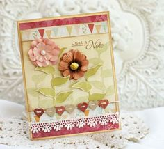 I love the detail with the little hearts. Nina.B.Designs ~ Paper Piecing