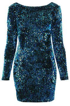 a4d1921f5157c   Gabby Sequin Dress by Motel Aqua Blue Dress