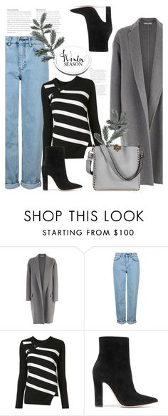 """""""01.12.16"""" by bliznec ❤ liked on Polyvore featuring CÉLINE, Topshop, Proenza Schouler, Gianvito Rossi and Valentino"""