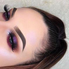 Bold Purple Shimmer, dark purple, tan eye make up Pretty Makeup, Love Makeup, Makeup Inspo, Makeup Ideas, Sleek Makeup, Makeup Kit, Makeup Tutorials, Skin Makeup, Eyeshadow Makeup