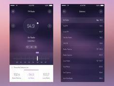 Radio App UI