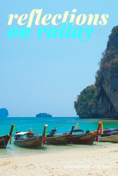 Widely regarded as one of the world's most beautiful beaches - so naturally we had to check it out. Railay.