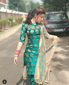 Cute Aditi in Punjabi Dress Salwar Designs, Patiala Suit Designs, Kurti Designs Party Wear, Blouse Designs, Indian Attire, Indian Wear, Salwar Kameez, Churidar, Punjabi Salwar Suits