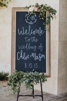 Love this garden wedding welcome sign! | Jay & Jess Photography