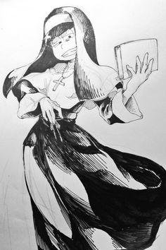Osomatsu-san- Ichimatsu #Anime「♡」 Ichimatsu, Howls Moving Castle, I Love Anime, Theme Song, Kingdom Hearts, Homestuck, Priest, Vocaloid, Line Art