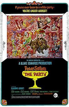 The party is a cult classic. 1968 film director Blake Edwards and comedian genius Peter Sellers drew the blue print on how to succeed at any party. Cult Movies, Funny Movies, Movies To Watch, Good Movies, Funniest Movies, 10 Film, Film Movie, Comedy Film, Cinema Posters