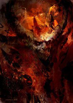 Modeus Disciples II fan art by SvetoslavPetrov Dark Fantasy Art, Fantasy Artwork, Dark Artwork, Ange Demon, Demon Art, Vampires, Digital Art Illustration, La Danse Macabre, The Crow
