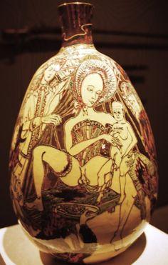 Potter Artist Grayson Perry (British: 1960 - ) | Grayson Perry Art, Pottery Marks, English Artists, Art For Art Sake, Ceramic Vase, Erotic Art, Art Studios, Asian Art, Contemporary Artists