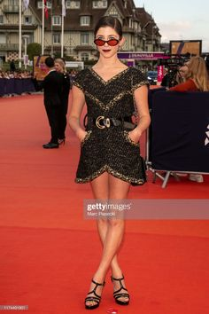 Actress Annabelle Attanasio attends the Tribute to Kristen Stewart. Kristen Stewart, American, Peplum Dress, Photos, Events, Actresses, Formal Dresses, Fashion, Female Actresses
