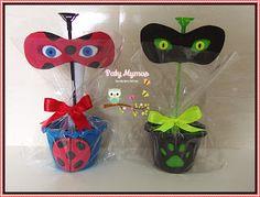 Paty Mymos Lembrancinhas: Centro de Mesa Miraculous Ladybug
