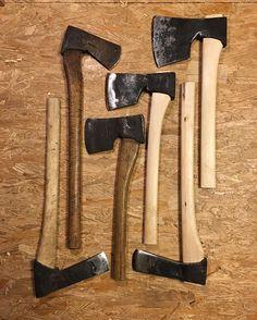 types of antique hammers. eg vart ferdig å skjefte dei tre nye øksene i tide til #flatlayfriday types of antique hammers a