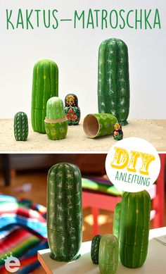 Bastel dir tolle Kaktus-Matroschkas! DIY-Anleitung für trendy Deko-Kakteen