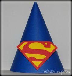 READ DESCRIPTION : Superman Inspired Birthday Party Hats
