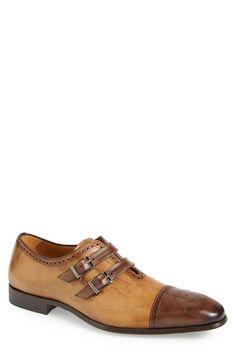 'Messina' Double Monk Strap Shoe (Men)