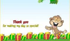 Abhi's Birthday Thank you card for 25th November 2013
