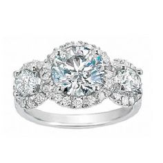 Three stone anniversary ring. <3 Past Present and Future