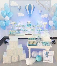 Decoração de festa ou chá de bebê menino balão blue