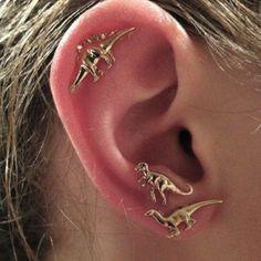 Boho rock animaux dinosaures métalliques stud multiples de goujon boucles d'oreilles pour femmes hommes 3 pares/set dans Clous d'oreilles de Bijoux sur AliExpress.com | Alibaba Group