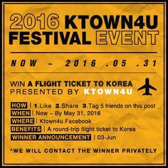 2016 Ktown4u Festival Event – Sorteio de uma passagem para Coreia