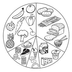 Healthy Food Coloring Pages See more healthy tips at maxhealthgroup.com