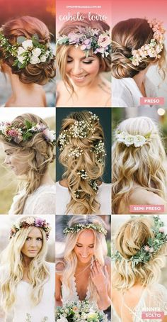 Hair with natural floral arrangements. - Oh my god, I'm engaged to #WeddingHairFlowers #arrangements #engaged #floral #Natural #weddinghairflowers
