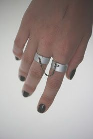 Inspire Me: DIY Chained Rings