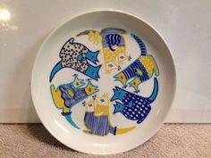 Rare Arabia Finland Kengu Child's Plate by Gunvor Olin-Gronqvist Kangaroo 1970s