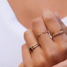 Etsy Dainty ring - Open gold ring - Minimalist ring - Thin gold ring - Tiny gold ring - Stacking rings -